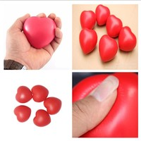 Funny Soft Foam Anti Stress Ball Toys Squeeze Heart Shaped Ball Stress Pressure Relief Relax Novelty Fun Gifts Vent Gag Toy JH55