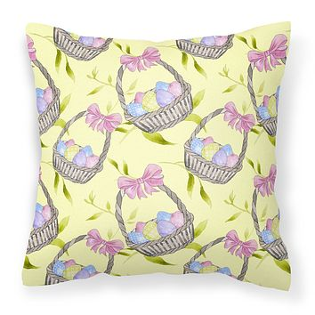 Easter Basket and Eggs Fabric Decorative Pillow BB7490PW1818