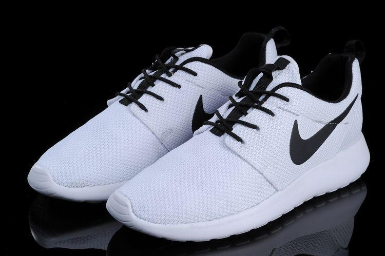 N093 - Nike Roshe Run (White Black) from shopzaping.com 106c81608
