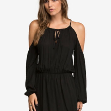Cutout-Shoulder Dress