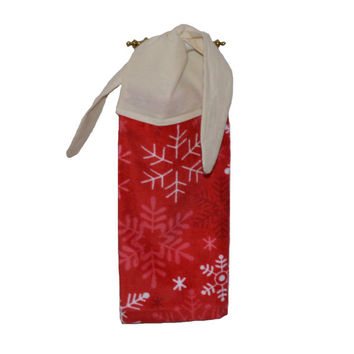 Red Snowflake Towel, Kitchen Towel, Christmas Decor, Hanging Towel, Gift for Her, Towel with Ties, Linen, Christmas Towel, Gift for Her