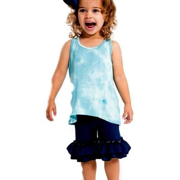 Toddlers Ruffle Shorts, Denim