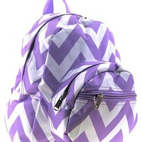 Chevron Small Kids Backpack Toddler Bag Purse (Light Purple)