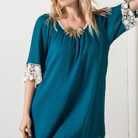 These Days Dress - Teal