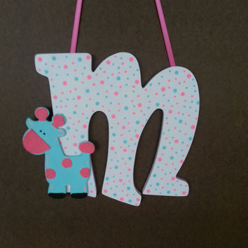 Wood Letters - Letters for Nursery - It's A Girl - Baby Decor - Nursery Decor - Giraffe Decor