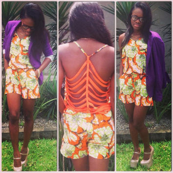 Sexy and tres fashion African Bodysuit style