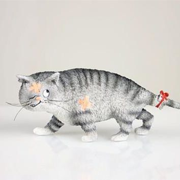Poor Tom Beat Up Cat with Bandage by Dubout 5.75W, Assorted Colors