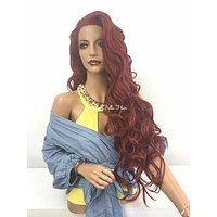 Red lace front wig - Fascination