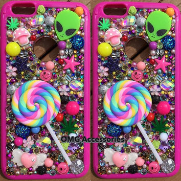 Phone Case- iPhone 6 -- Lollipop Kawaii in Pink