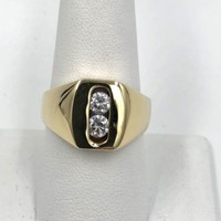 Men's Vintage .55 cts Diamond Ring VVS1 G