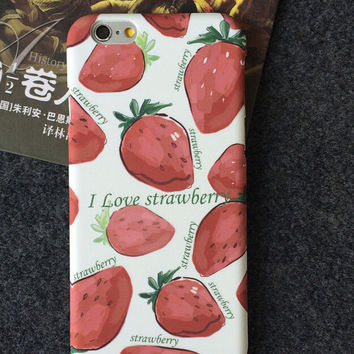 Strawberry iPhone 5se 5s 6 6s Plus Case Cover