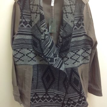 Fashionomics Aztec Knit Jacket