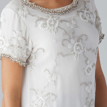 ROCOCO SAND Beaded Top in White