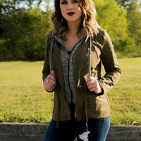 Easy To Love Jacket- Olive