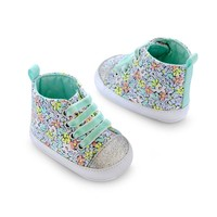 Carter's Floral High-Top Sneaker Crib Shoes - Newborn
