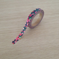 Small washi tape with flowers