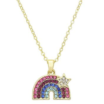 Rainbow Sparkle Necklace