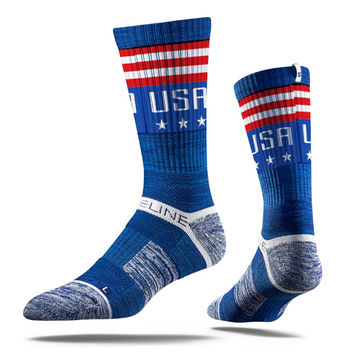 Strideline® 2.0 USA Liberty, Blue Crew Socks