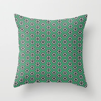 Little Flowers Throw Pillow by Bunhugger Design