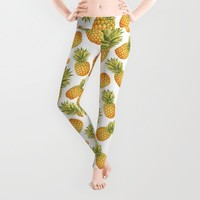 Pineapple Glittering Party Leggings by Octavia Soldani