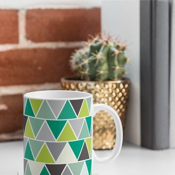 Heather Dutton Emerald Triangulum Coffee Mug