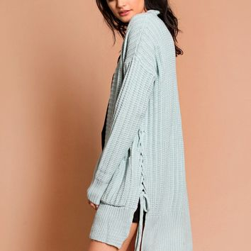 Soar Above Knit Cardigan In Blue | Threadsence