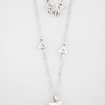 Full Tilt 2 Row Layered Triangle Necklace Silver One Size For Women 27066814001
