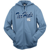 North Carolina Tar Heels Carolina Blue Seasonal Arch Tackle Twill Full-Zip Hooded Sweatshirt