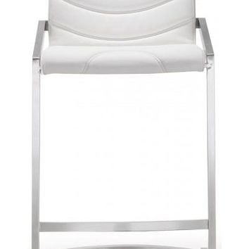 RINGO WHITE STEEL COUNTER STOOL (PRICE SHOWN PER TWO PIECE)