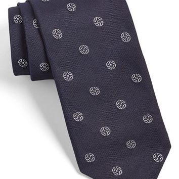 Men's Todd Snyder White Label Medallion Silk Tie, Size Regular
