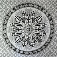 Jaipurhandloom Christmas Gift Black and White Tapestries Elephant Mandala Hippie Tapestry Indian Traditional Throw Beach Throw Wall Art College Dorm Bohemian Wall Hanging Boho Queen Bedspread