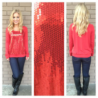 Red Rudolph Sequin Sweater