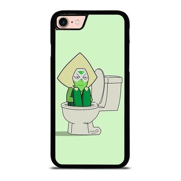 STEVEN UNIVERSE PERIDOT IN TOILET iPhone 8 Case Cover