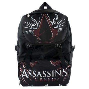Hot Sale Game Assassin's Creed  Waterproof Laptop Black Backpack/Double-Shoulder Bag/School Bag