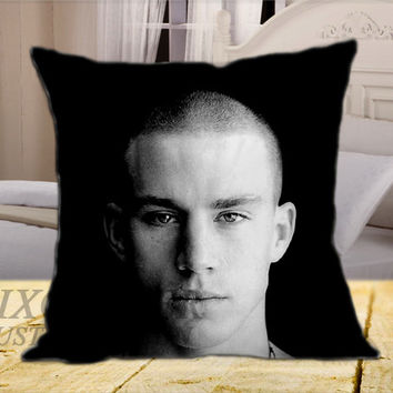 Channing Tatum on Square Pillow Cover