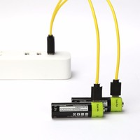 ZNTER Universal AA 1.5V 1250mAh USB Rechargeable Lithium Polymer Battery Charged by Micro USB Cable