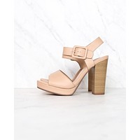 buckle up! ankle strapped high heel - dusty mauve