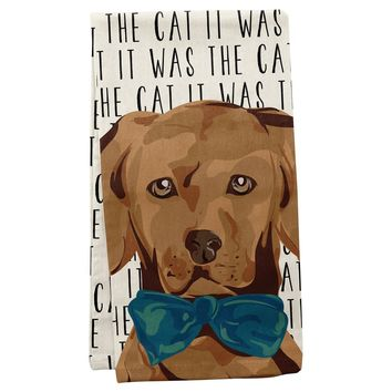 It Was The Cat Towel By Wit