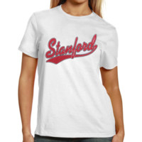 Stanford Cardinal Women's Melody Basic T-Shirt - White