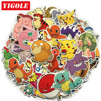 80pcs/lot Do Not Repeat PVC Sticker Pikachu Pokeball Anime Laptop Stickers For Kids