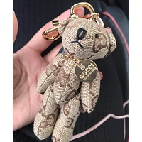 GUCCI Stylish Women Men Chic Cartoon Bear Bag Hanging Drop Car Key Chain Bag Accessories Couple Gift