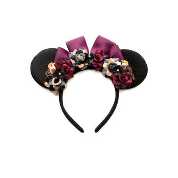 Briar Rose Disney Ears Headband, Mouse Ears, Briar Rose Costume, Briar Rose Dress, Aurora Dress, Aurora Costume, Sleeping Beauty Crown