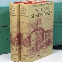 The Complete Works of William Shakespeare Volumes 1 & 2 . All The Plays All The Poems . 1960s . Nelson Doubleday, Inc. . Book Set
