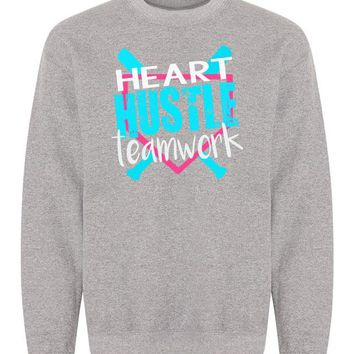 Heart Hustle Teamwork Softball Sweatshirt