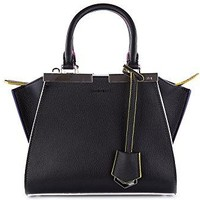 Fendi Women's Mini 3jours Shopping Multicolor Trim Top-Handle Bag Black Multi