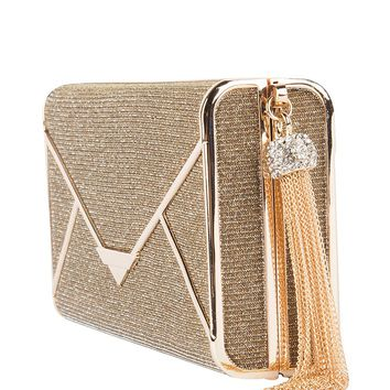 Structured Clutch in Gold