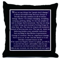 Grey's Change Quote Throw Pillow> Grey's Anatomy TV Store