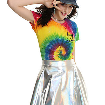 Stay Weird Tie Dye Girls T-Shirt