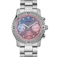 Silver-Tone Gradient Feminine Sport Watch at Guess