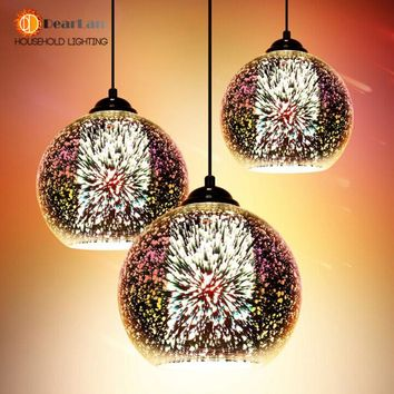 Modern 3D Plated Colorful Lamplight
